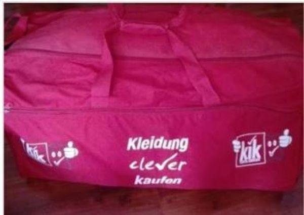 riesengroße Sporttasche, 180/190 Liter, rot Werbeaufdruck