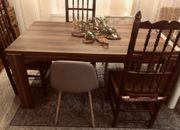 Wohnzimmertisch Esstisch Tisch braun Walnuss