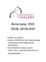 Reiterferien Reitercamp Zeltlager