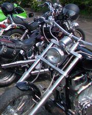 Harley-Sozia Motorradfahren Ausfahrten Spaß haben
