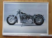 Harley Davidson Bild mit Glasrahmen