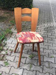 Holzstuhl 50er 60er Vintage