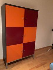 Schrank 3-fächer 6 Türen zweifarbig