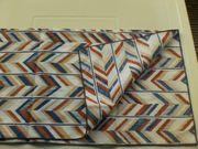 Deckchen - blau gemustert - mehrfarbig - ca