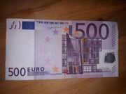 Echter 500 - EURO Schein wird