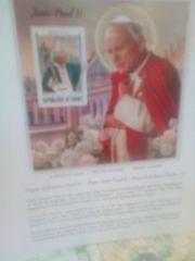Verkaufe einen Sonderblock von Papst