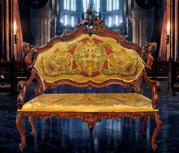 Antike Barock Salon Garnitur