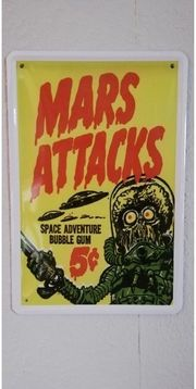 Blechschild Mars Attacks