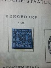 Briefmarke Bergedorf 1861