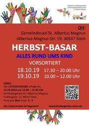 vorsortierter Herbstbasar des Kindergartens Albertus