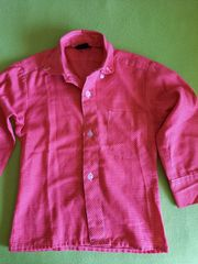Kinder-Hemd rot weiß Gr 104