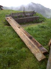 Holztrog ca 5 Meter lang