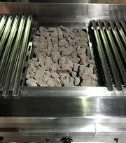 Lavasteingrill Heidebrenner Gastro Gas-Lavasteingrill Wasserschubladen