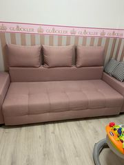 rosa Couch schlaffunktion