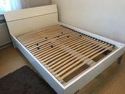 Schönes Futonbett weiß 140x200 cm