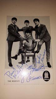 The Beatles Autogrammkarte