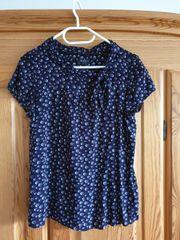 schicke blaue Bluse Größe 36 -
