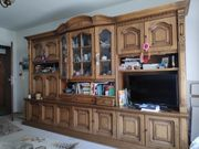 Wohnzimmer Schrank Eiche rustikal
