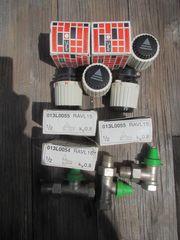 6 Danfos Thermostatköpfe mit Ventilen