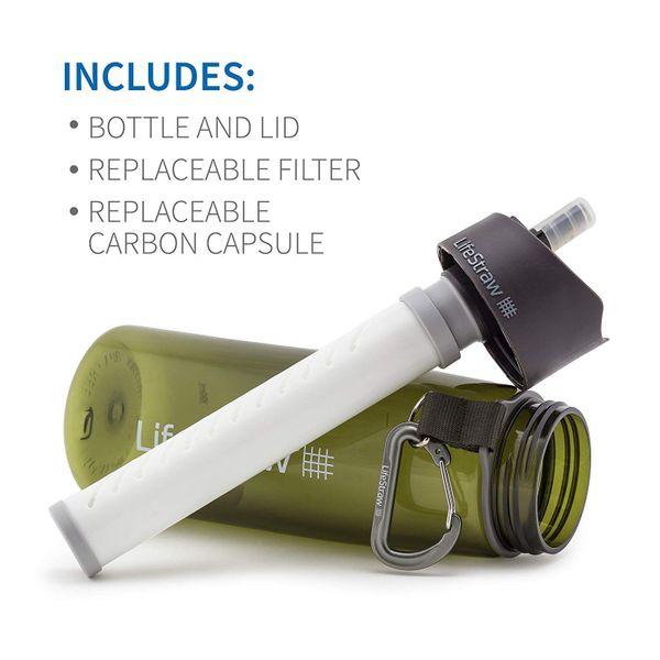 Wasserflasche mit 2 stufiger Filtration