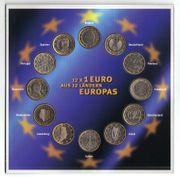 12 x 1 Euromünzen