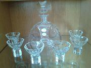 Glas Karaffe mit 6 Schnaps -