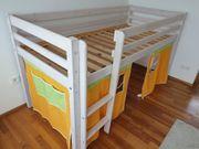 Hochbett Kinderbett 90x200 cm Kiefer