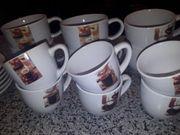 Cappuccino und Espresso Tassen mit