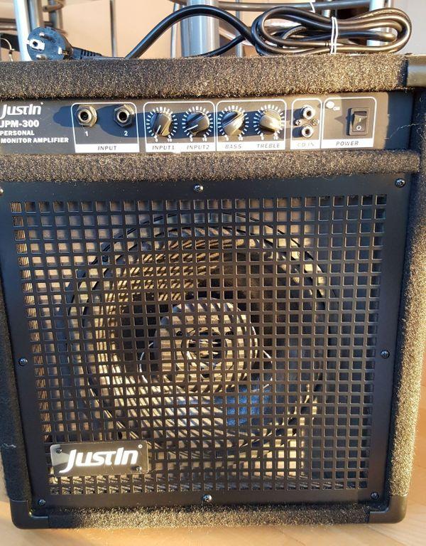 """Monitor für Drum / E-Gitar \""""Justin System JPM-300\"""""""