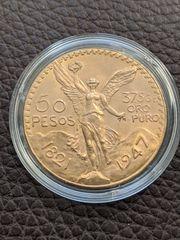50 Pesos Centenario Mexiko 1947