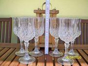 6 Stück Bleikristall Gläser höhe
