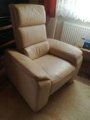 Leder Sofa und 2 Sessel