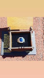 Silberner 925 Saphier Ring