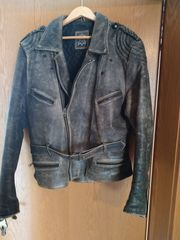 Motorradjacke Vintage Echt Leder