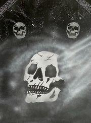 Keilrahmen Skull nebula