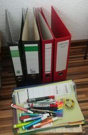 Büromaterial Ordner Stifte Trennstreifen Stehordner