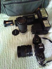 Kamera Canon A-1 mit Zubehör