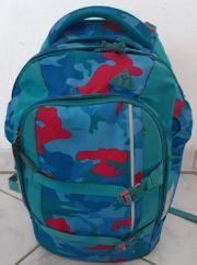 Schulkinder Cooler Satch-Rucksack Schulrucksack türkis-blau-rot
