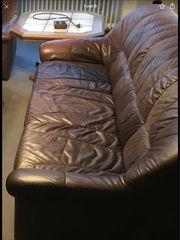 Ledercouch Sofa Kombination 3er 2er