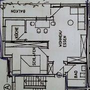 Ruhige helle 2-Zimmer-Wohnung mit Süd-Balkon