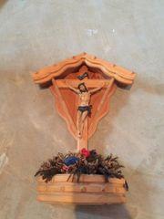 Wanddeko Kreuz Jesus Holz Kruzifix