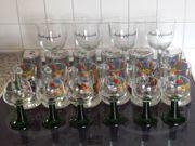 28 Stück Gläser - Bierkrüge Wein-