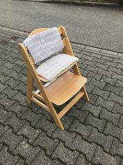 Kinderstuhl Massivholz mit Sitzauflage und