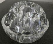 Blumen- Kerzensteckkugel aus Glas aus