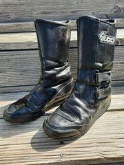 Motorradstiefel Leder schwarz