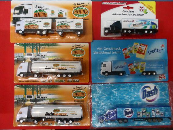 Eisenbahn Modellauto LKW Reklame - Werbung -Werbetrucks