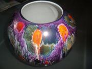 Wunderschöne antike Vase Porzellan handgemalt