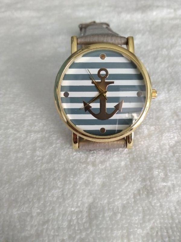 Damen Armbanduhr mit Anker-Motiv