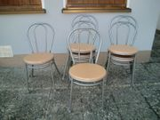 6 Stühle aus Stahlrohr und
