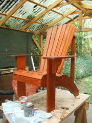 Gartenstuhl und Sitzgruppe